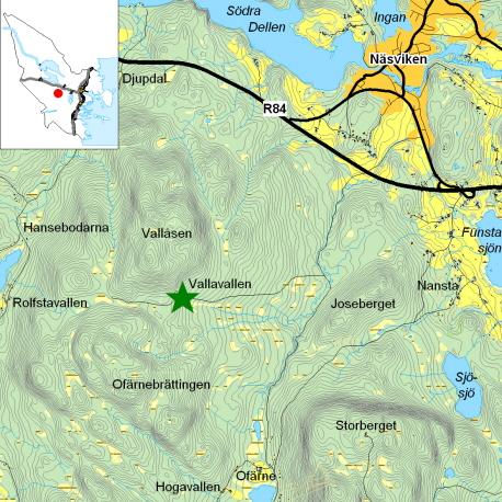 karta till Vallavallen